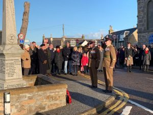 Act of Remembrance at Findhorn War Memorial